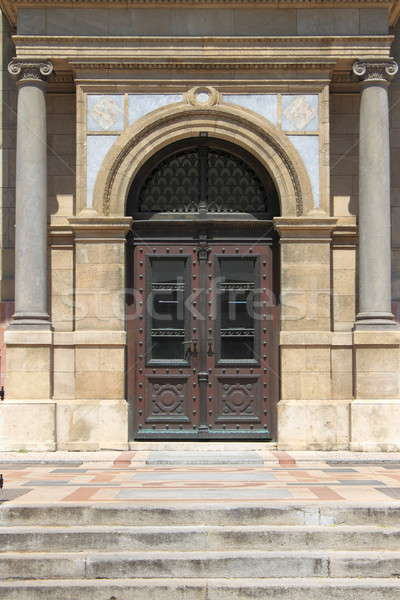 Renaissance door at St. Stephen Basilica Stock photo © alessandro0770