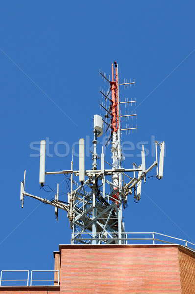 Antena móvel rede torre internet azul Foto stock © alessandro0770