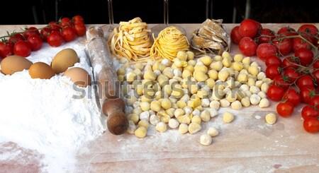 Ingredients of italian pasta Stock photo © alessandro0770