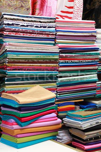 ткань магазине красочный текстуры моде Сток-фото © alessandro0770