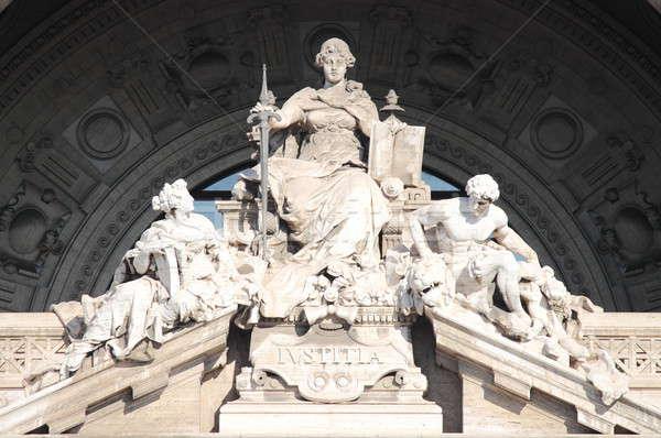 Justitie godin standbeeld paleis Rome Stockfoto © alessandro0770