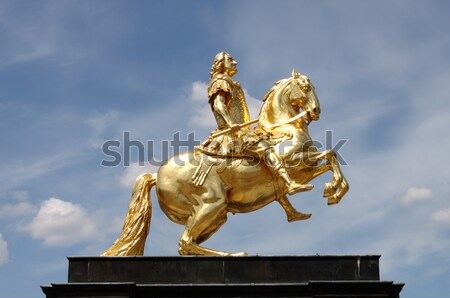 Augustus II The Strong statue Stock photo © alessandro0770