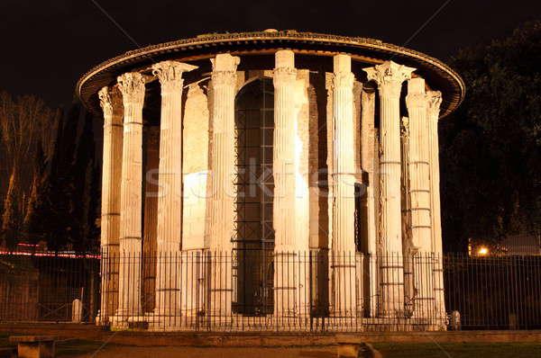 храма ночь Рим Италия мрамор победителем Сток-фото © alessandro0770