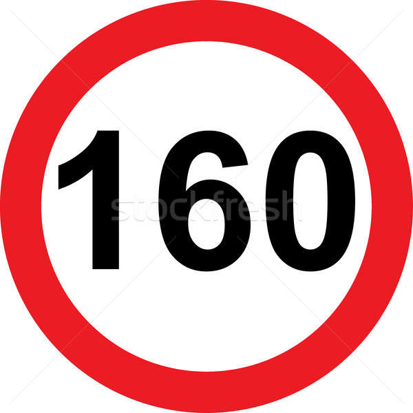 160 speed limitation road sign Stock photo © alessandro0770