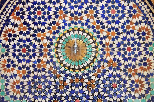モザイク 典型的な パターン 壁 デザイン 芸術 ストックフォト © alessandro0770