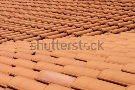 Сток-фото: красный · крыши · глина · плитки · перспективы · дома