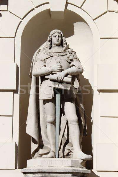 Сток-фото: статуя · Вена · Knight · Австрия · город · войны