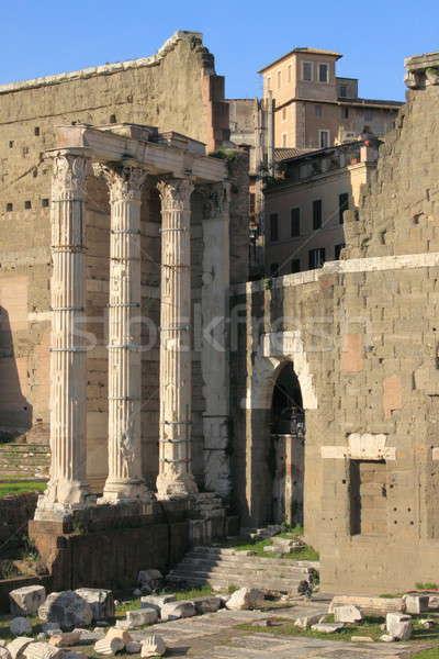 フォーラム ローマ イタリア アーキテクチャ 大理石 休暇 ストックフォト © alessandro0770