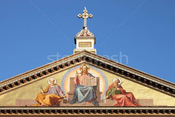 Basilica of Saint Paul outside the walls Stock photo © alessandro0770