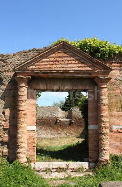 Edad romana casa entrada puerto Roma Foto stock © alessandro0770
