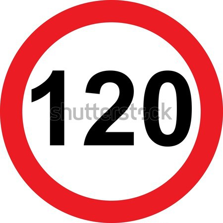 120 speed limitation road sign Stock photo © alessandro0770