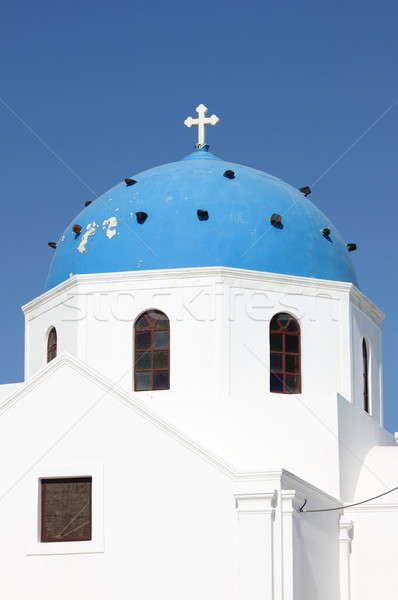 Церкви Санторини Греция типичный купол острове Сток-фото © alessandro0770
