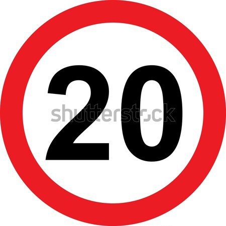 20 speed limitation road sign Stock photo © alessandro0770