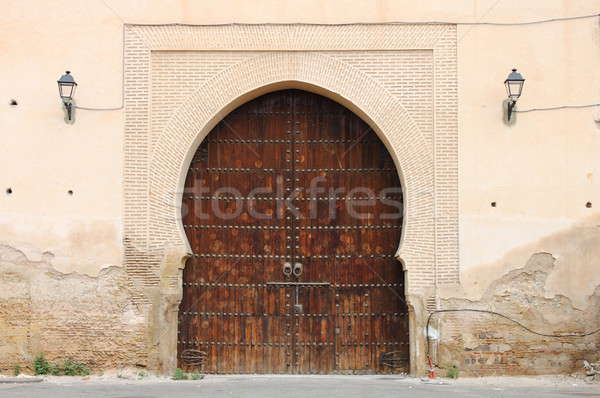 árabe porta viajar arquitetura portão Foto stock © alessandro0770