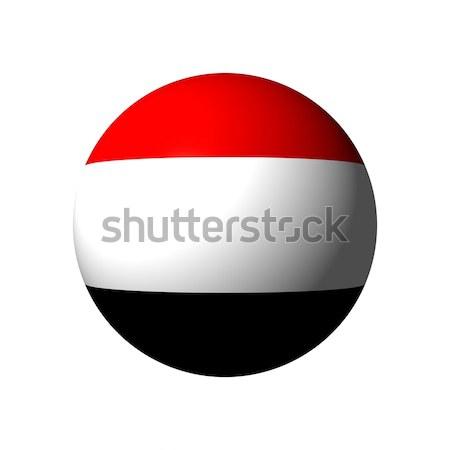 Esfera bandeira Iémen nação bola vermelho Foto stock © alessandro0770