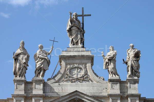 Topo basílica cristo fachada Roma Foto stock © alessandro0770