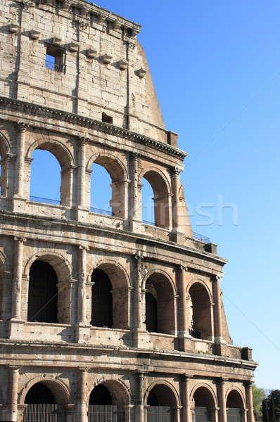 Colosseum Roma ayrıntılı görmek İtalya şehir Stok fotoğraf © alessandro0770