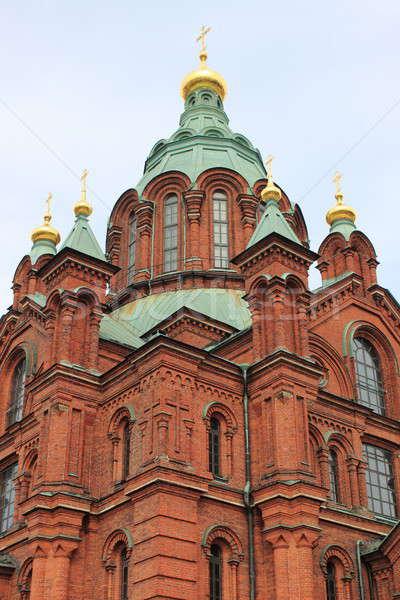 Ortodoxo catedral Helsinque Finlândia edifício verão Foto stock © alessandro0770