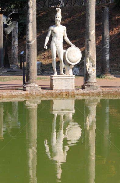 Standbeeld villa Rome Italië oorlog steen Stockfoto © alessandro0770