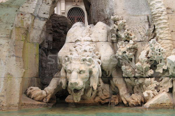 Foto stock: Monstro · estátua · praça · Roma · Itália · edifício