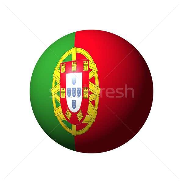 Esfera bandera Portugal nación verde pelota Foto stock © alessandro0770