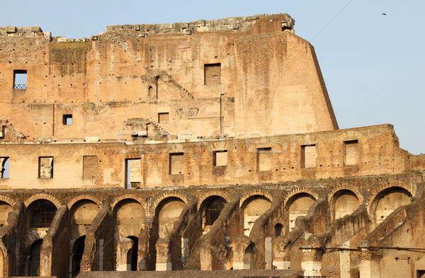 Interno lado coliseu Roma Itália edifício Foto stock © alessandro0770