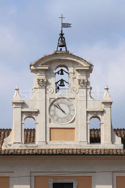 Renaissance clock tower in Rome Stock photo © alessandro0770