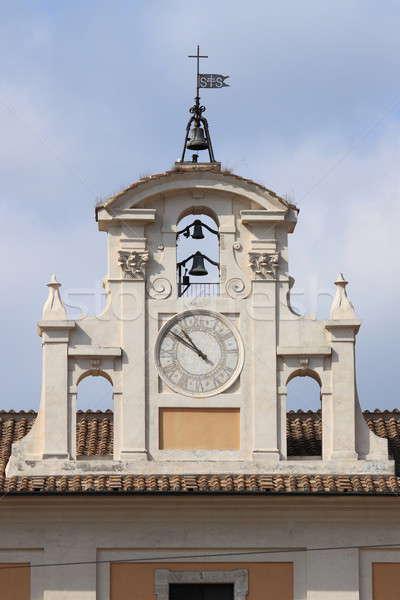 Stock photo: Renaissance clock tower in Rome