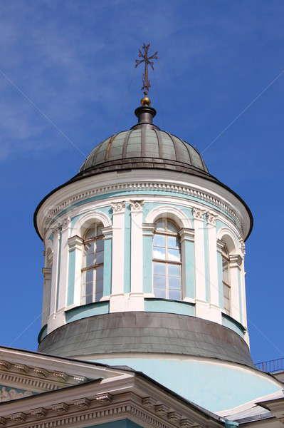 Kupola ortodox templom égbolt kék fehér Stock fotó © alessandro0770