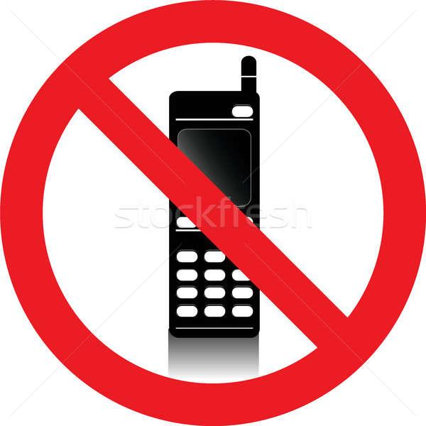 Pas signe permis communication appel Photo stock © alessandro0770