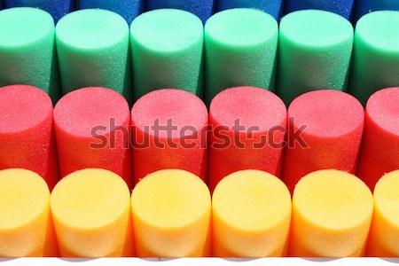 Színes műanyag absztrakt terv kék piros Stock fotó © alessandro0770