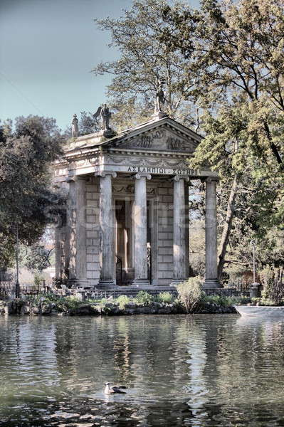 Foto stock: Templo · Villa · Roma · Italia · agua · ciudad