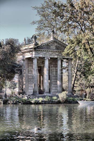 Tapınak villa Roma İtalya su şehir Stok fotoğraf © alessandro0770