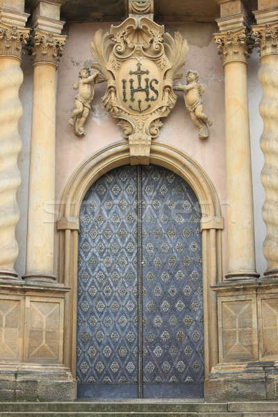 Entrance door of a baroque style church Stock photo © alessandro0770