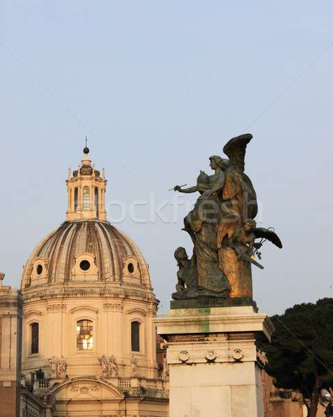 Church dome and an angel Stock photo © alessandro0770