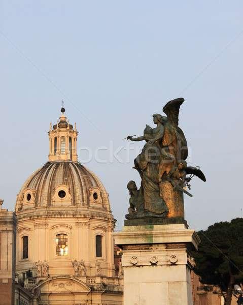 Iglesia cúpula ángel Roma Italia pared Foto stock © alessandro0770