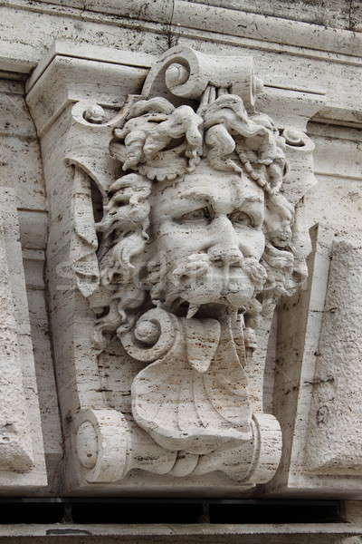 Satyr mask basrelief Stock photo © alessandro0770