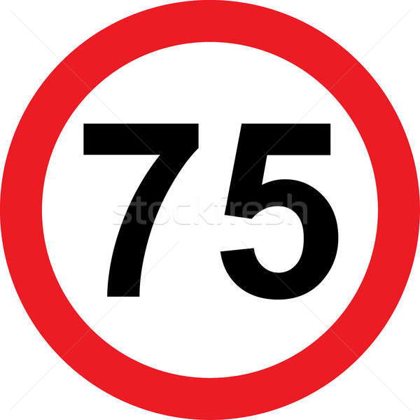 75 speed limitation road sign Stock photo © alessandro0770