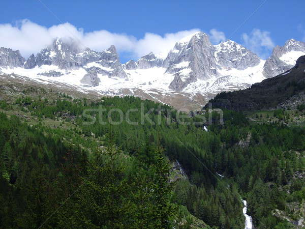Bahar dağlar manzara görmek alpler sezon Stok fotoğraf © alessandro0770