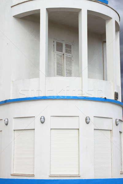 Varanda estilo edifício luz mar arte Foto stock © alessandro0770