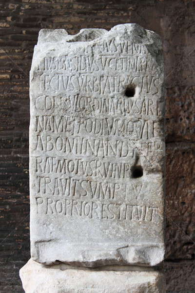 Stock photo: Ancient latin inscription
