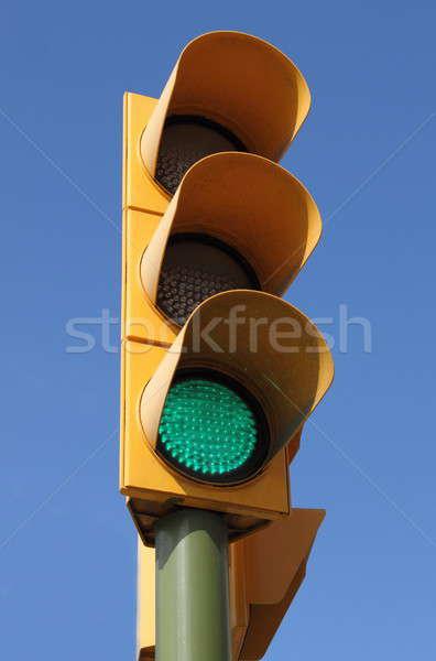 Yeşil trafik ışığı ışık yol sokak güvenlik Stok fotoğraf © alessandro0770