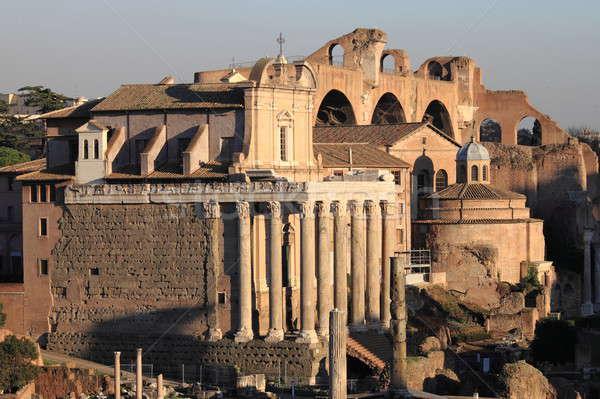 Tapınak Roma forum Roma İtalya Bina Stok fotoğraf © alessandro0770