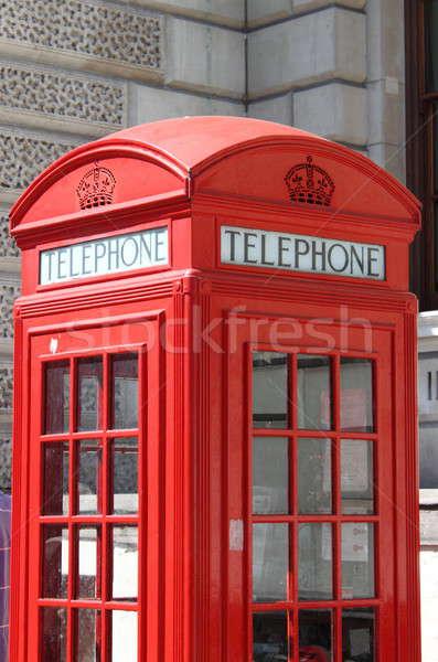 Londen Rood telefoon vak detail typisch Stockfoto © alessandro0770