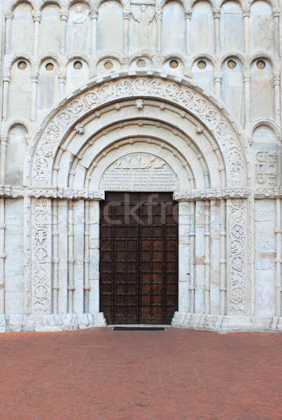 Entrance of Santa Maria della Piazza church in Ancona Stock photo © alessandro0770