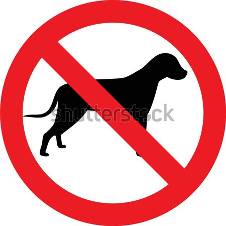 No dogs sign Stock photo © alessandro0770