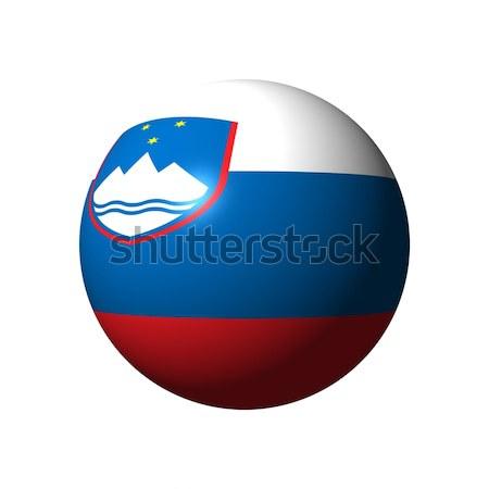 Esfera bandeira Eslovenia oficial nação azul Foto stock © alessandro0770