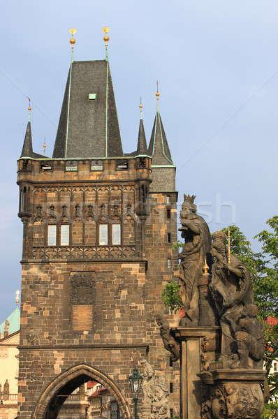 Torre ponte Praga Repubblica Ceca acqua città Foto d'archivio © alessandro0770