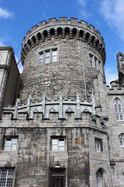 強い 塔 ダブリン 城 アイルランド 空 ストックフォト © alessandro0770