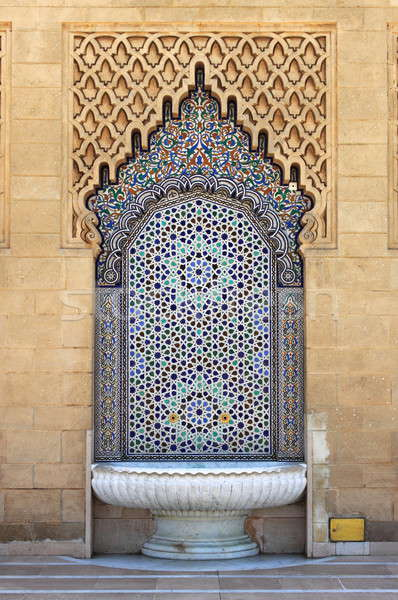 Moroccan fountain with mosaic tiles Stock photo © alessandro0770